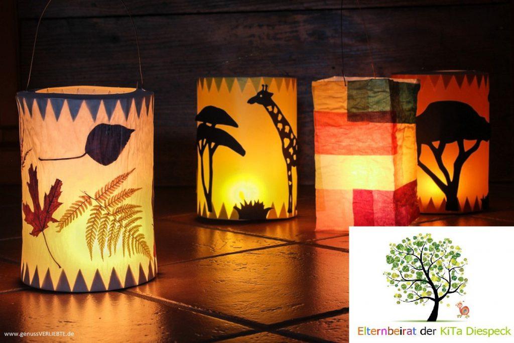 Leuchtende Laternen in Diespeck und Stübach