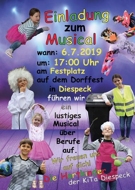 Herzliche Einladung zu unserem Musical im Rahmen des Dorffests